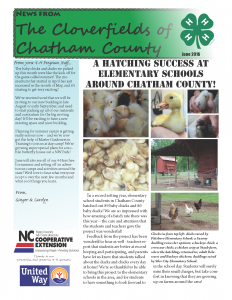 Cover photo for 4-H June Newsletter!