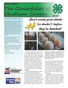 Cover photo for It's Gonna Be May! Check Out Our 4-H Monthly Newsletter!
