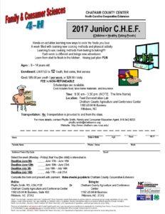 2017 Junior CHEF flyer