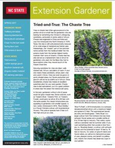 Extension Gardener newsletter cover