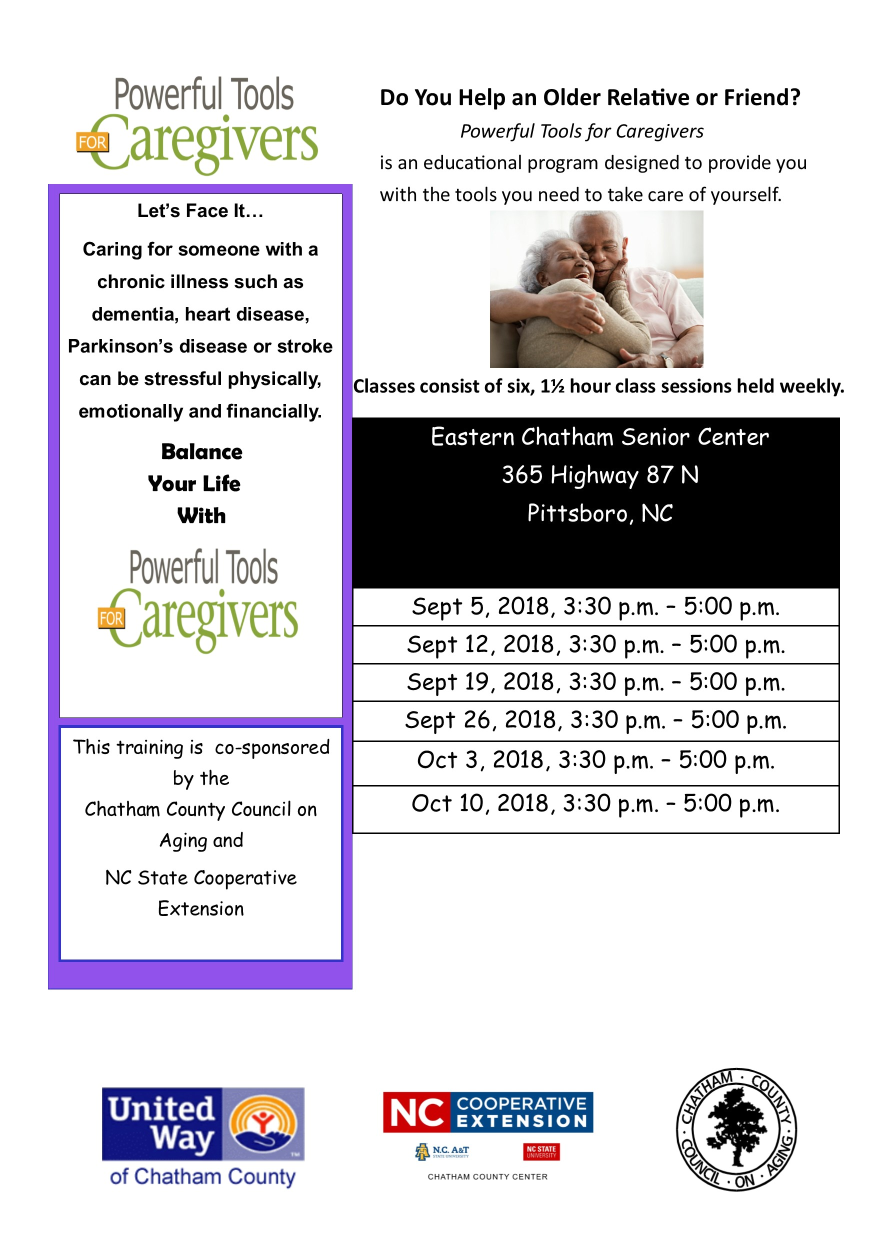 Powerful Tools for Caregivers flyer