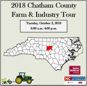 Cover photo for 2018 Chatham County Farm and Industry Tour