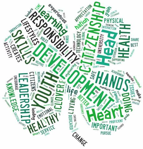 4-H word cloud logo