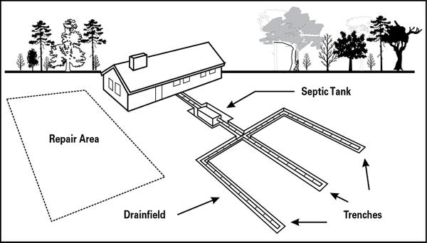 septic field drawing
