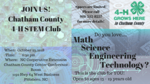 Cover photo for Chatham County 4-H STEM Club