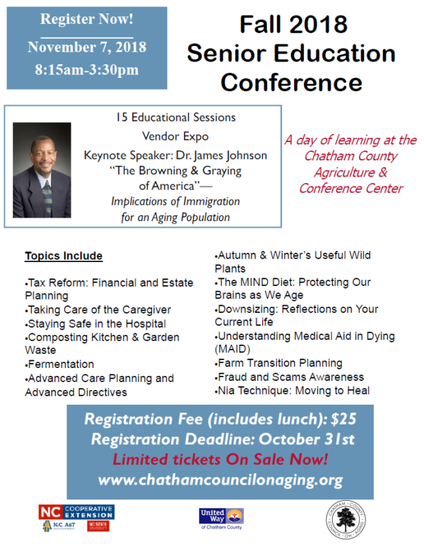 Senior Education Conference flyer image