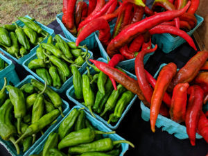 Fresh peppers at the farmers' market.