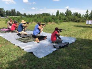 Shooting sports club taking aim at targets
