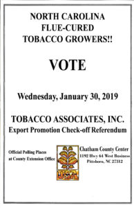 Cover photo for NC Flue-Cured Tobacco Growers Voting Information