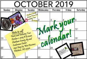October 2019 Calendar page with notes