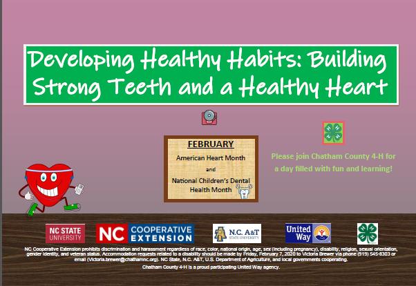 Healthy Habits flyer