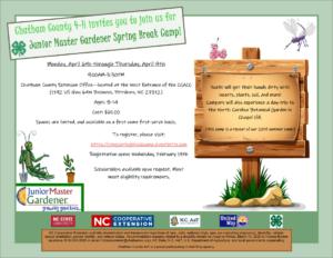 Cover photo for CANCELLED - Junior Master Gardener Spring Break Camp