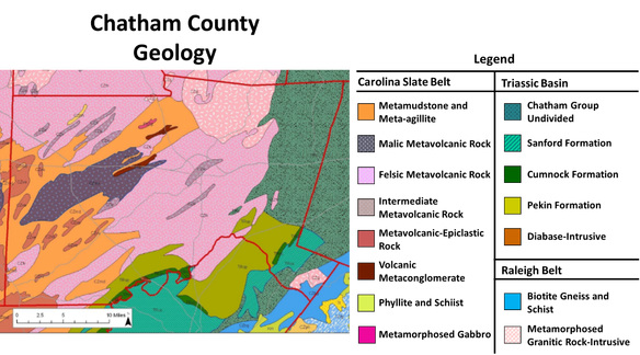 Chatham County Geological Map