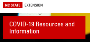 Cover photo for NC State Extension Launches Portal for COVID-19 Resources!