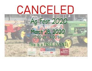 Cover photo for Spring Ag Fest 2020 Canceled