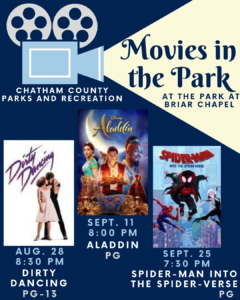 Cover photo for Meet Chatham County 4-H at Chatham Parks and Rec Movies in the Park