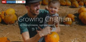 Growing Chatham Newsletter, Pumpkins, fall, father and infant