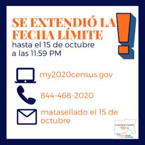 Census deadline (Spanish)