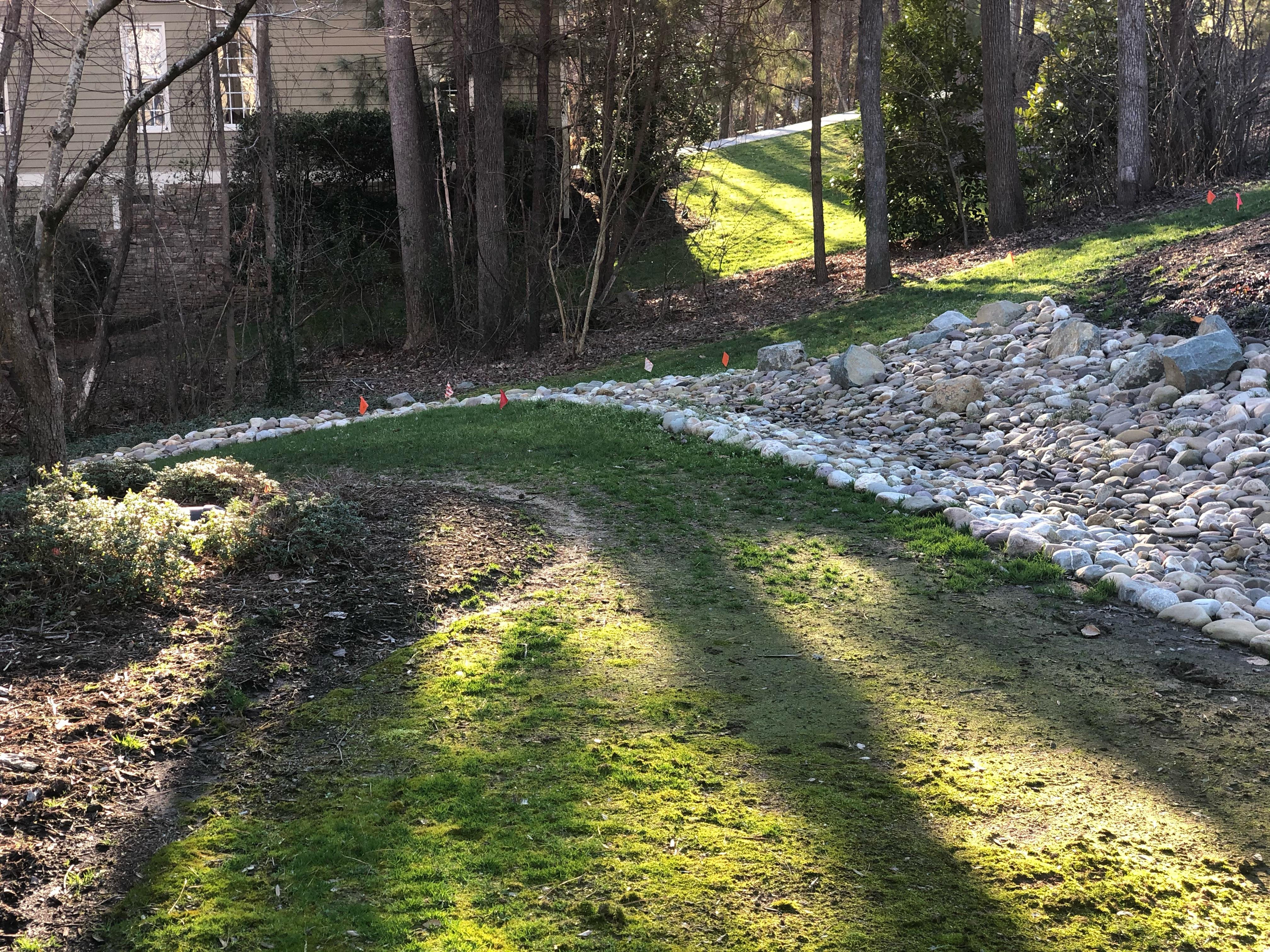 new drainage area