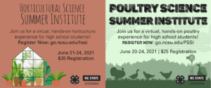 Cover photo for Poultry and Horticultural Science Summer Institutes for High School Youth